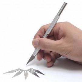 کاتر قلمی فلزی به همراه 5 تیغه یدک